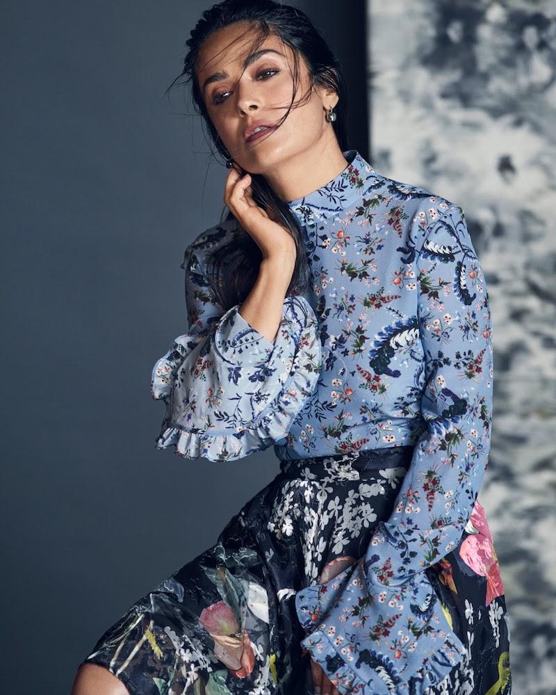 Erdem Lindsey Floral-Print Silk Crepe De Chine Blouse