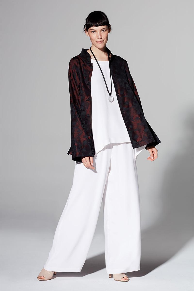 Eskandar Floral Mandarin-Collar Jacket