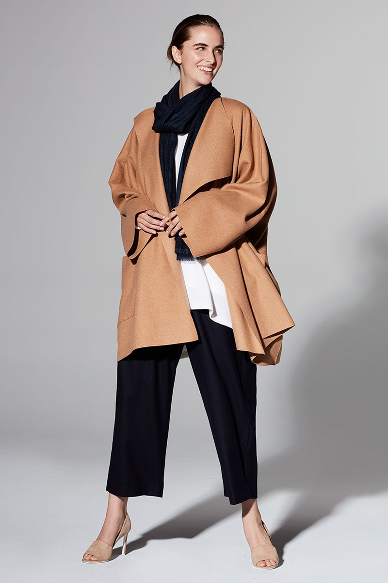 Eskandar Lightweight Felted Cashmere Mix Jacket Coat