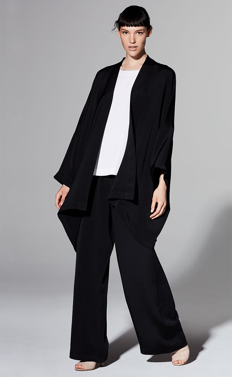 Eskandar Long Open-Front Jacket