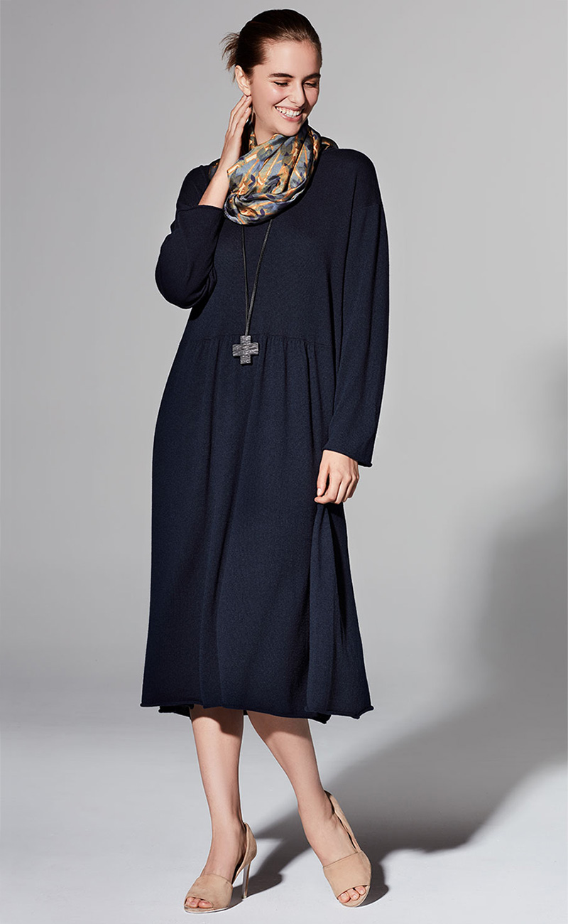 Eskandar Long-Sleeve Cashmere Dress