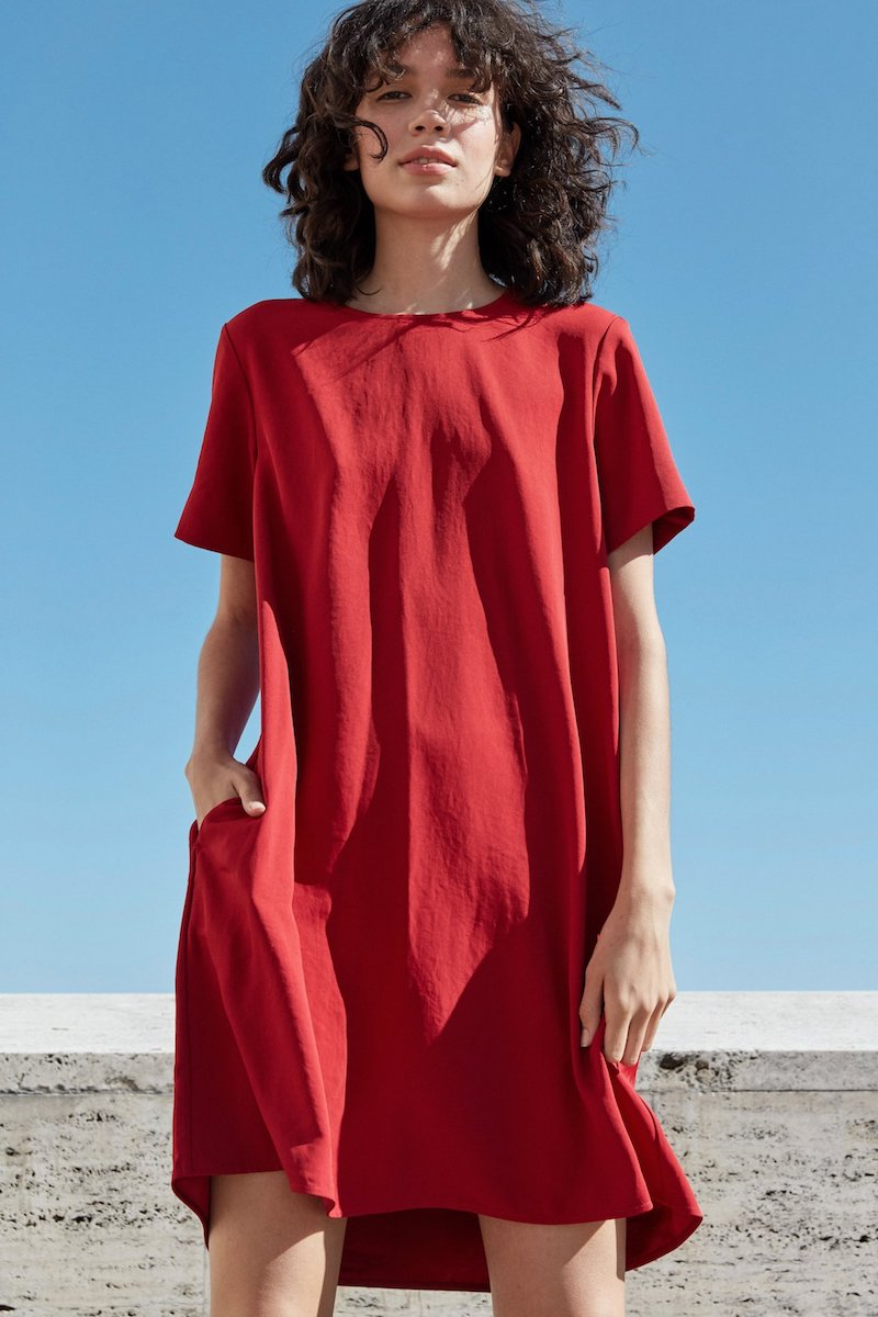 V Neck Short Sleeve Dress