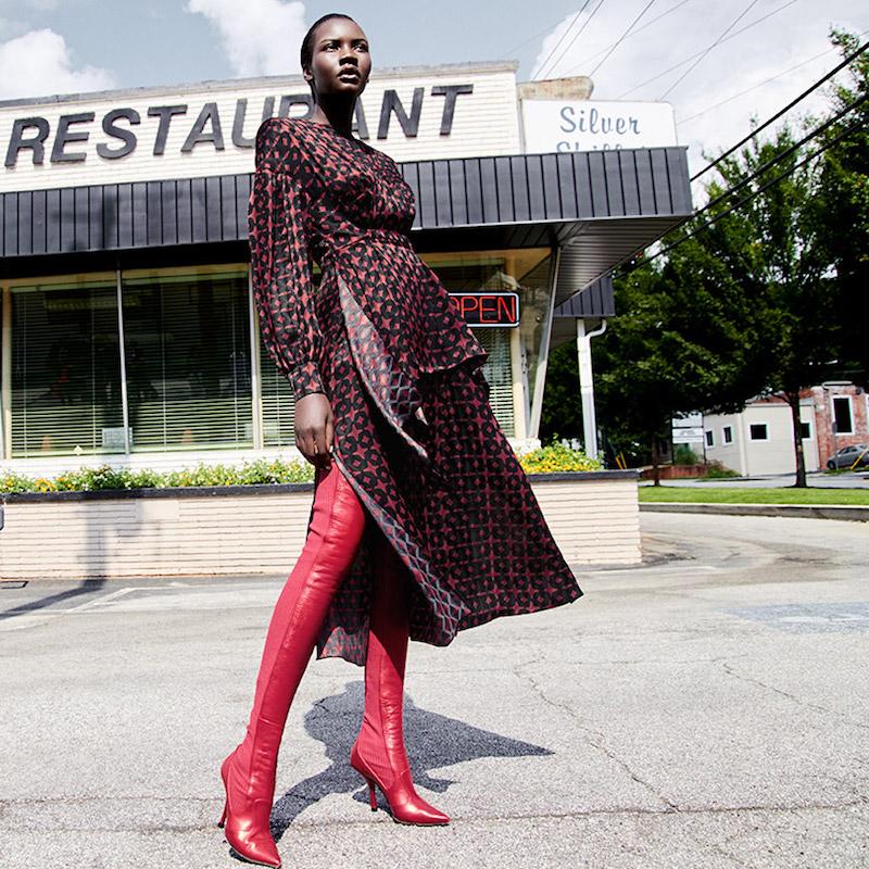 Fendi Rockoko Thigh-High Point Toe Boots