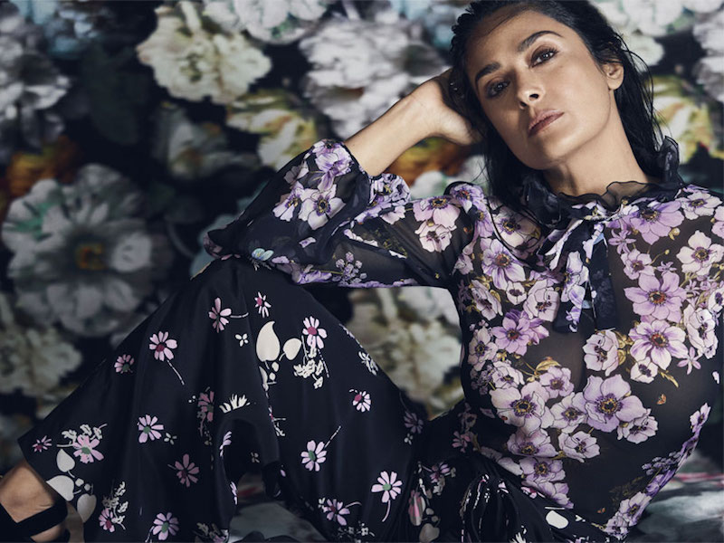 Giambattista Valli Pussy-Bow Ruffled Floral-Print Silk-Chiffon Blouse
