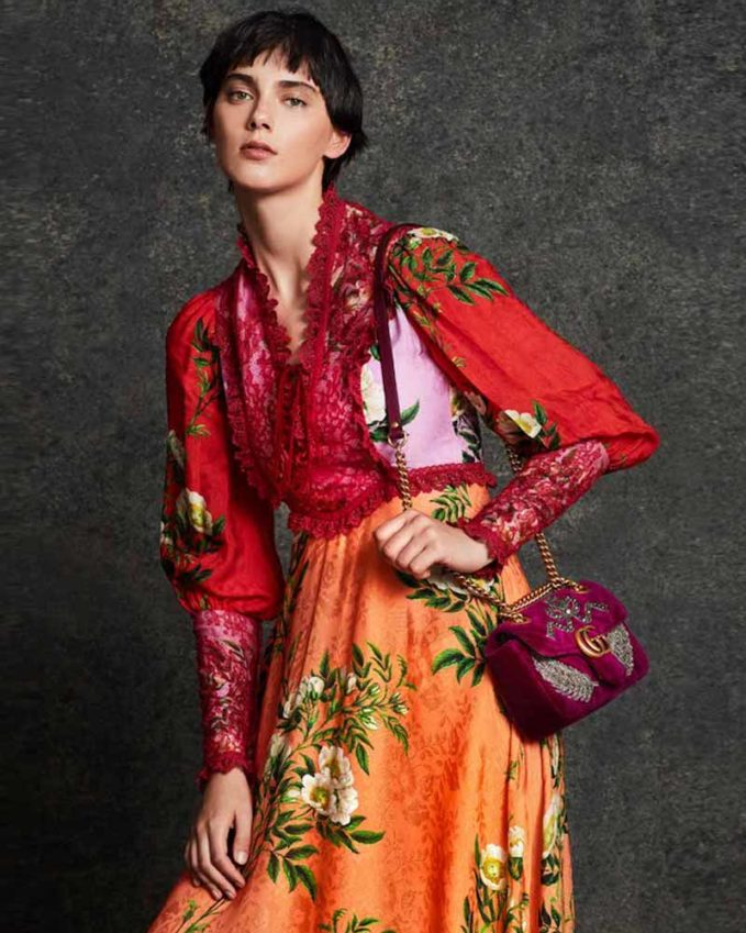 Gucci Velvet GG Marmont 2.0 Mini Shoulder Bag