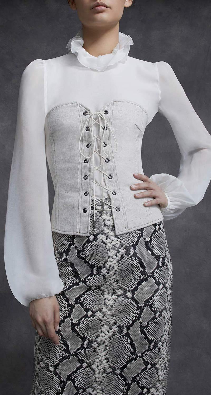 Isabel Marant Pryam Lace-Up Cotton Corset