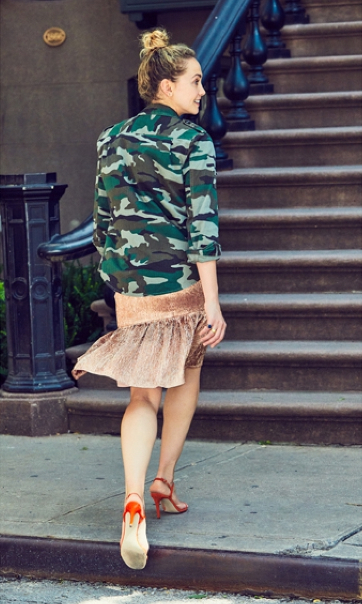 J.Crew Collection Rose-Gold Fluted Skirt