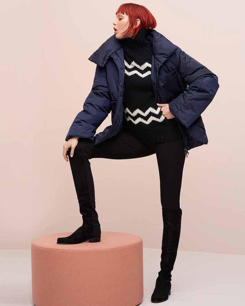 Joseph Chevron Intarsia Wool Sweater