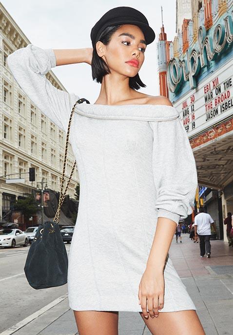 KENDALL + KYLIE Off Shoulder Sweater Dress