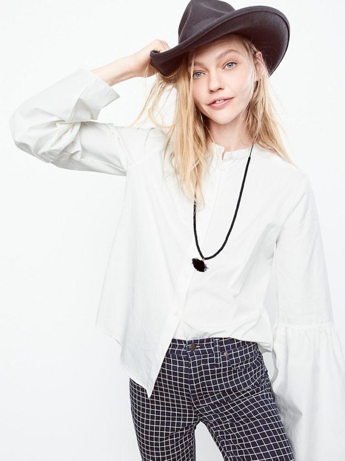 Madewell Bell-Sleeve Button-Down Shirt