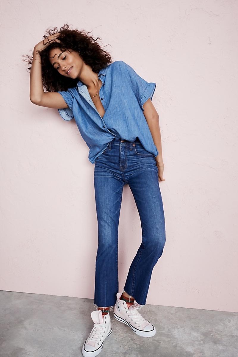 Madewell Cali Demi-Boot Jeans Raw-Hem Edition
