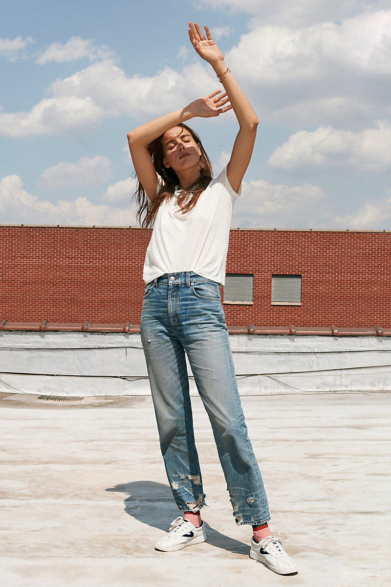 Madewell Rivet & Thread High-Rise Slim Boyjeans