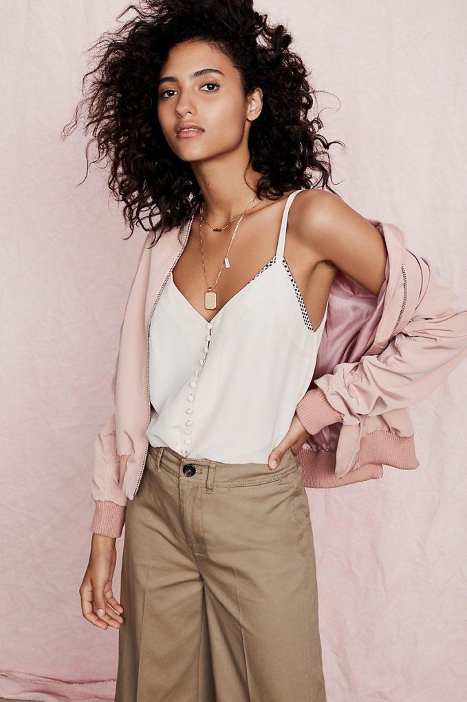 Madewell Silk Button-Down Cami