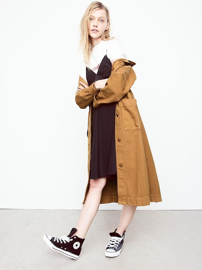 Madewell Silk Tie-Back Slip Dress