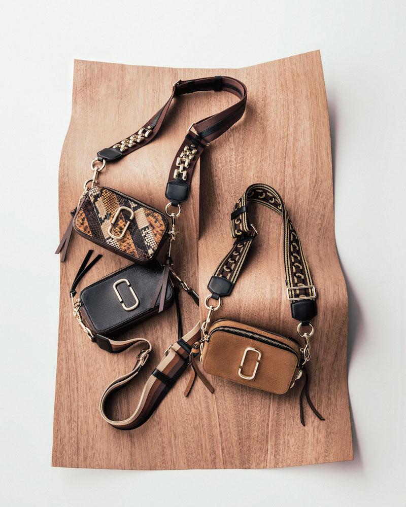 Marc Jacobs Chain Snapshot Snake-Print Crossbody Bag