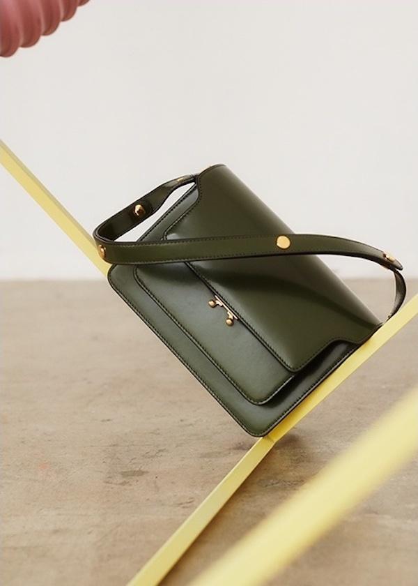 Marni Trunk Medium Leather Shoulder Bag