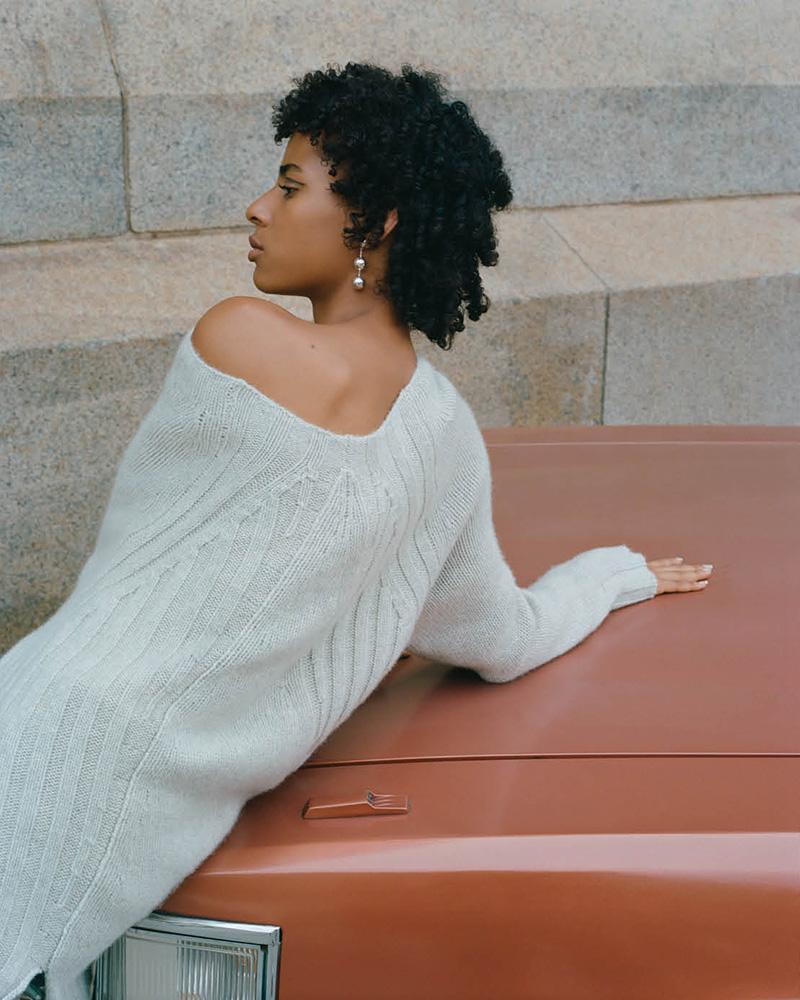 Nili Lotan Everly Multi-Knit Cashmere Sweater