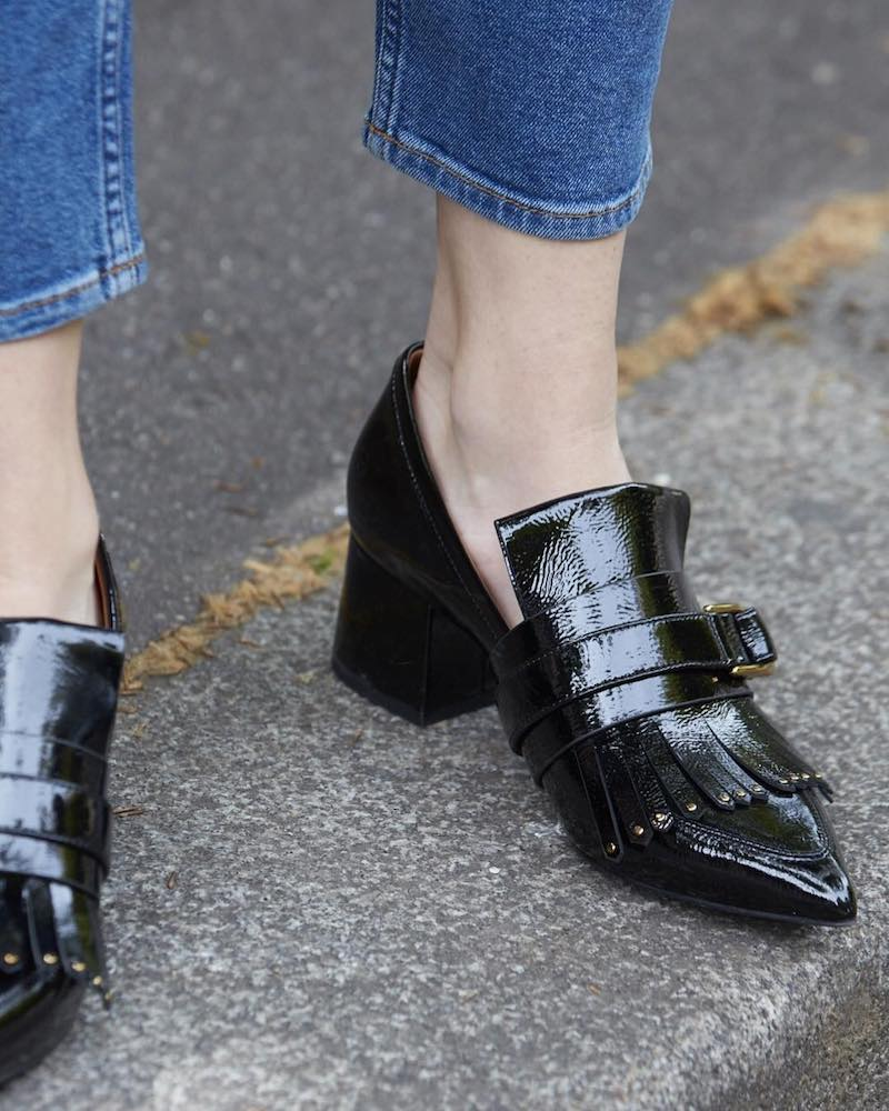 & Other Stories Patent Leather Loafer Pumps