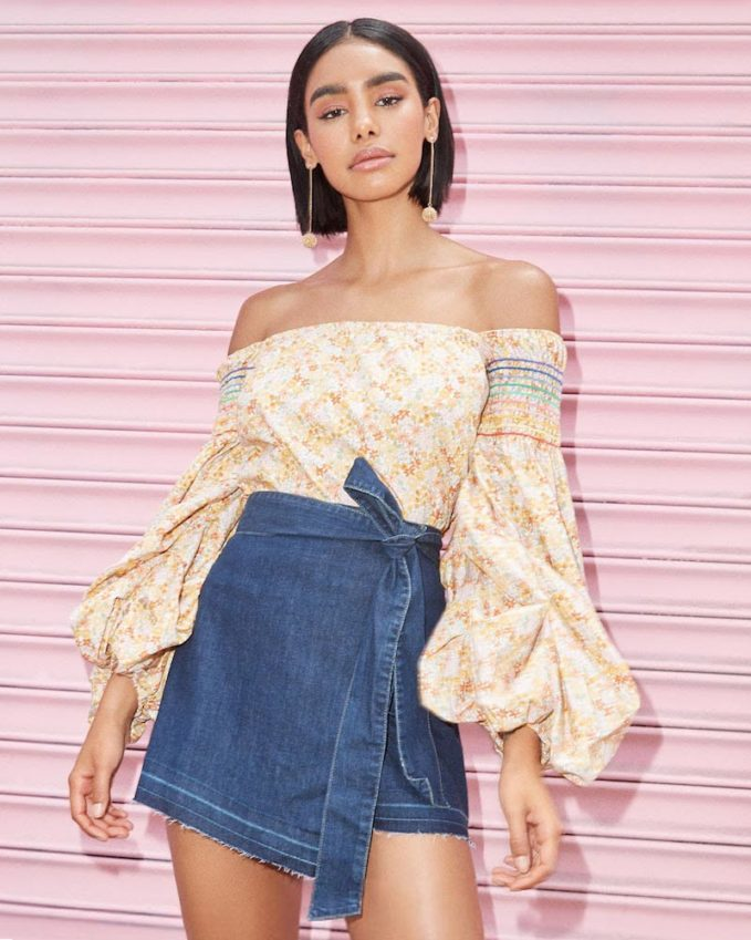 PAIGE Anette Wrap Skirt