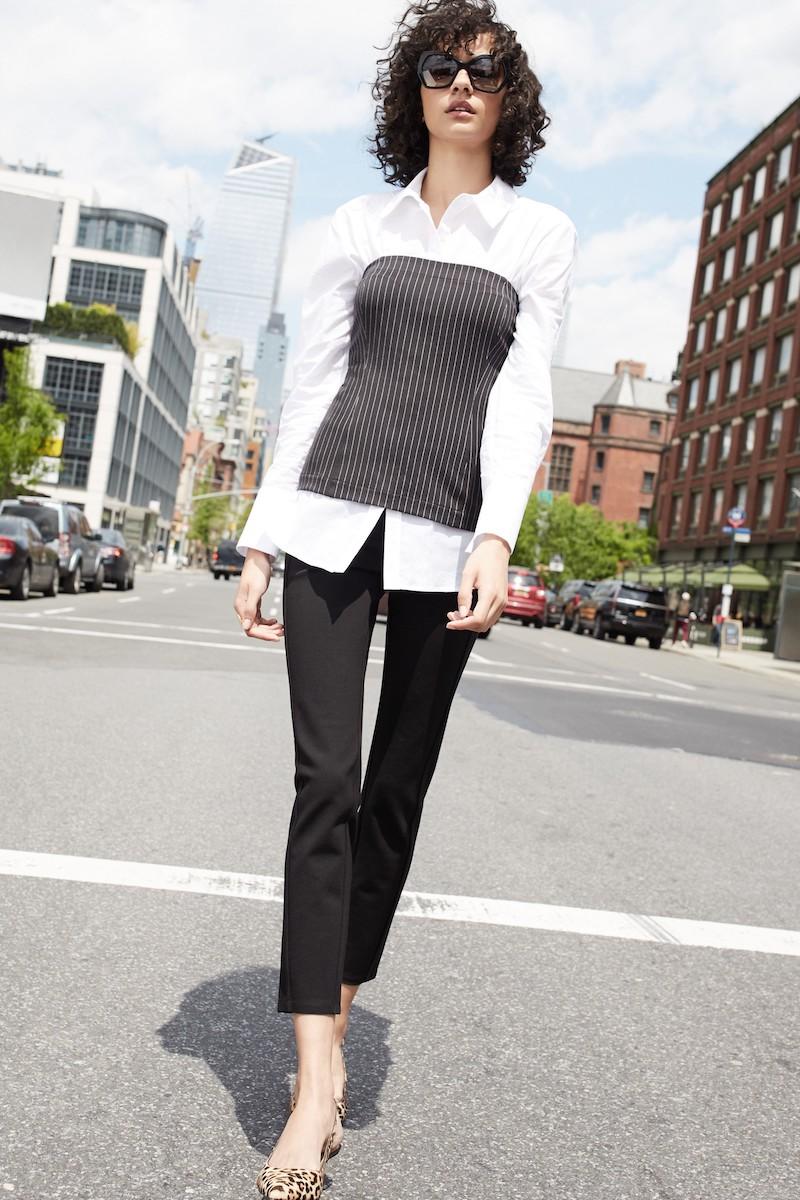 Pleione Menswear Bustier Shirt