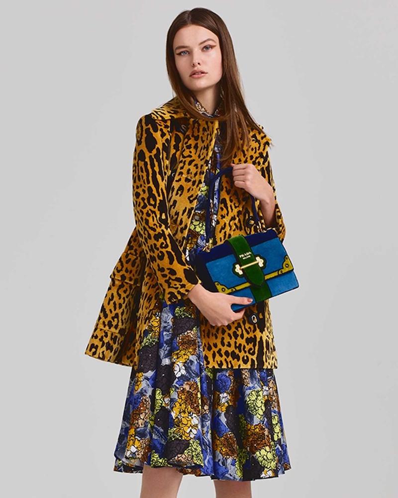 Prada Animal-Print Velvet Coat