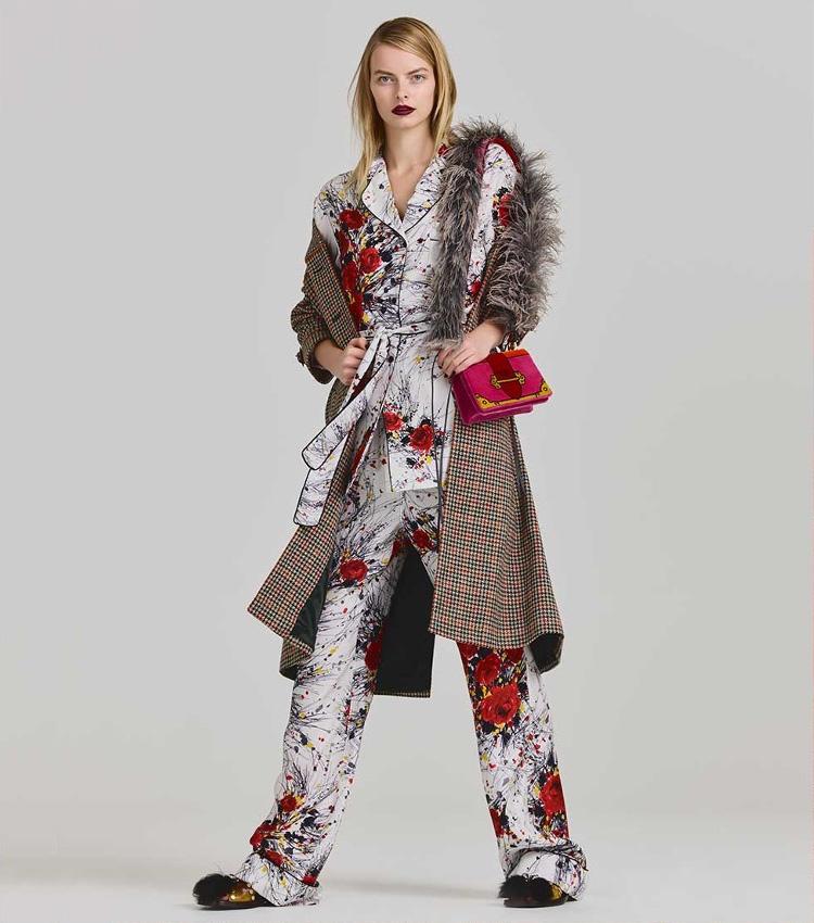 Prada Floral-Print Satin Pyjama Set