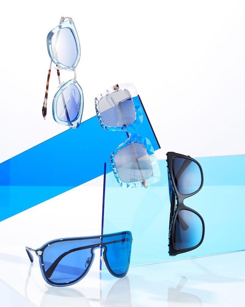 Prada Gradient Metal-Trim Geometric Cat-Eye Sunglasses