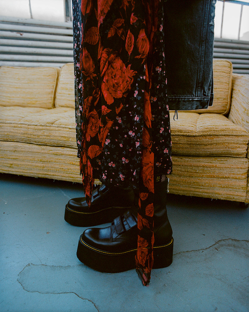 R13 Stacked Multi-Strap Leather Boots