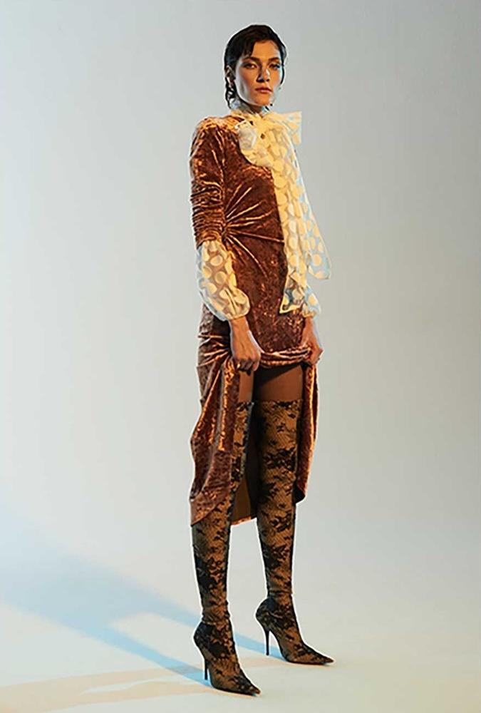 Rachel Comey Surveillance Crushed-Velvet Dress