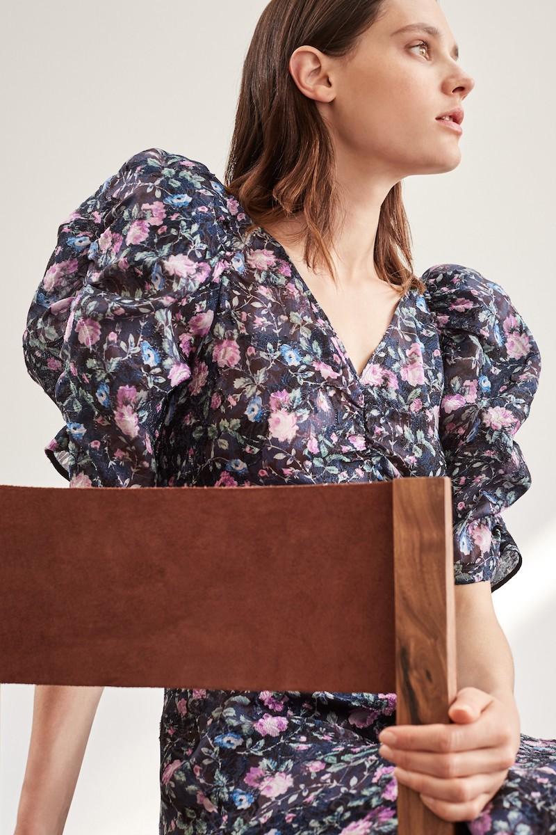 Rebecca Taylor Ruby Floral Organza Dress