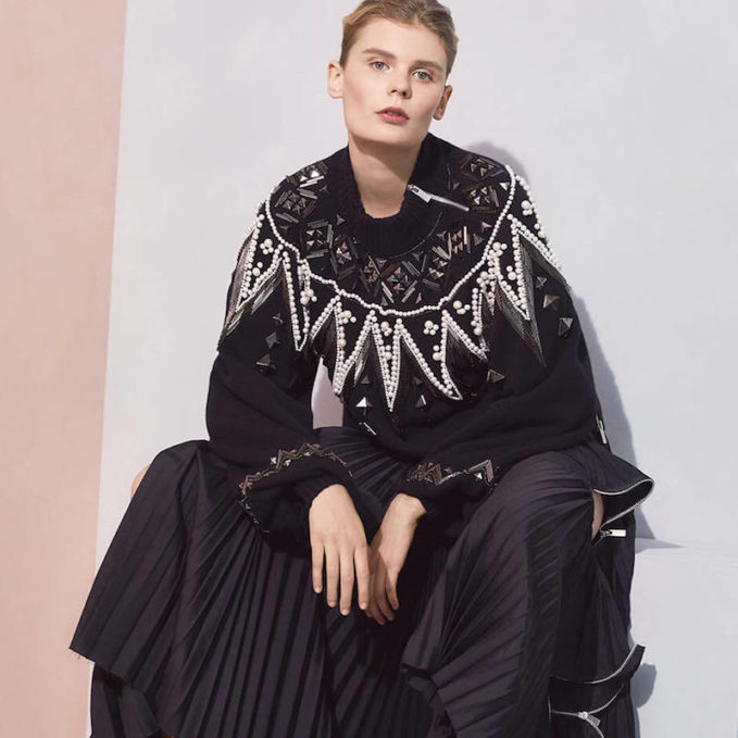 Sacai Wool Beaded Pullover