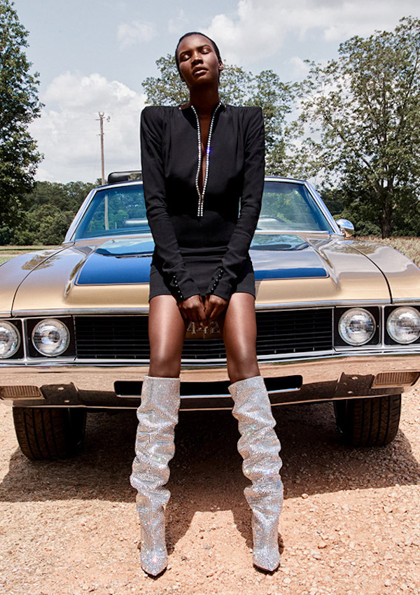Saint Laurent Embellished Zip-Front Dress