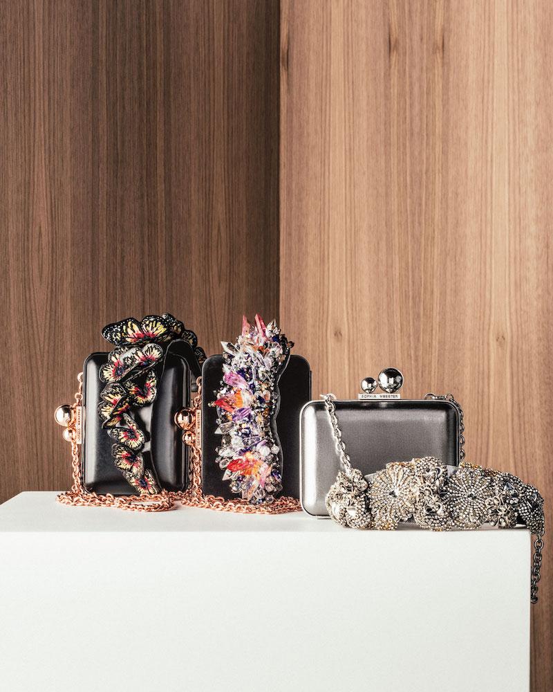 Sophia Webster Vivi Lilico Crystal Box Clutch Bag
