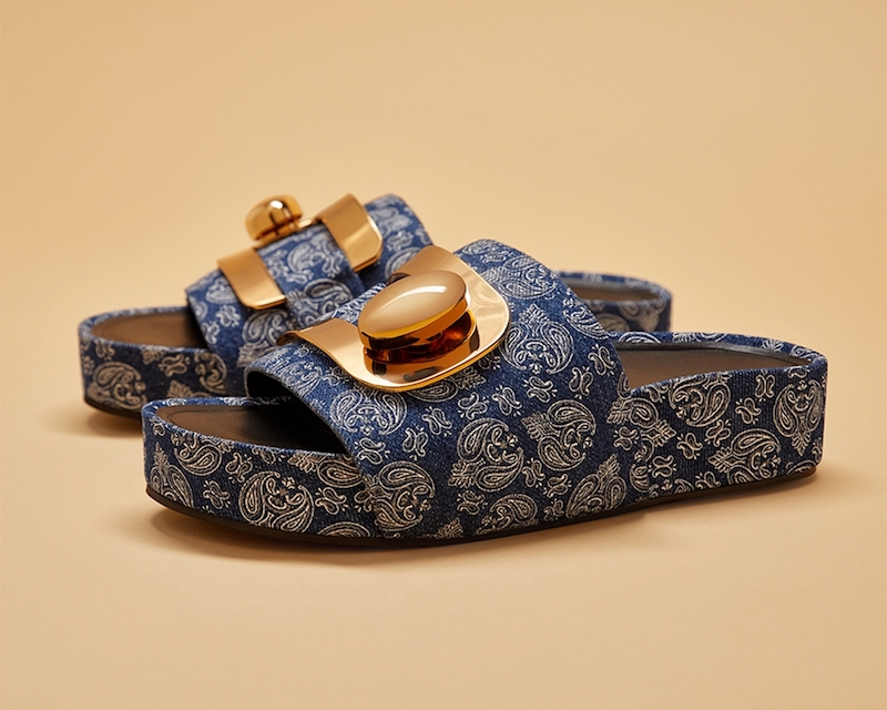 Stella Luna Paisley-Patterned Fabric Slides