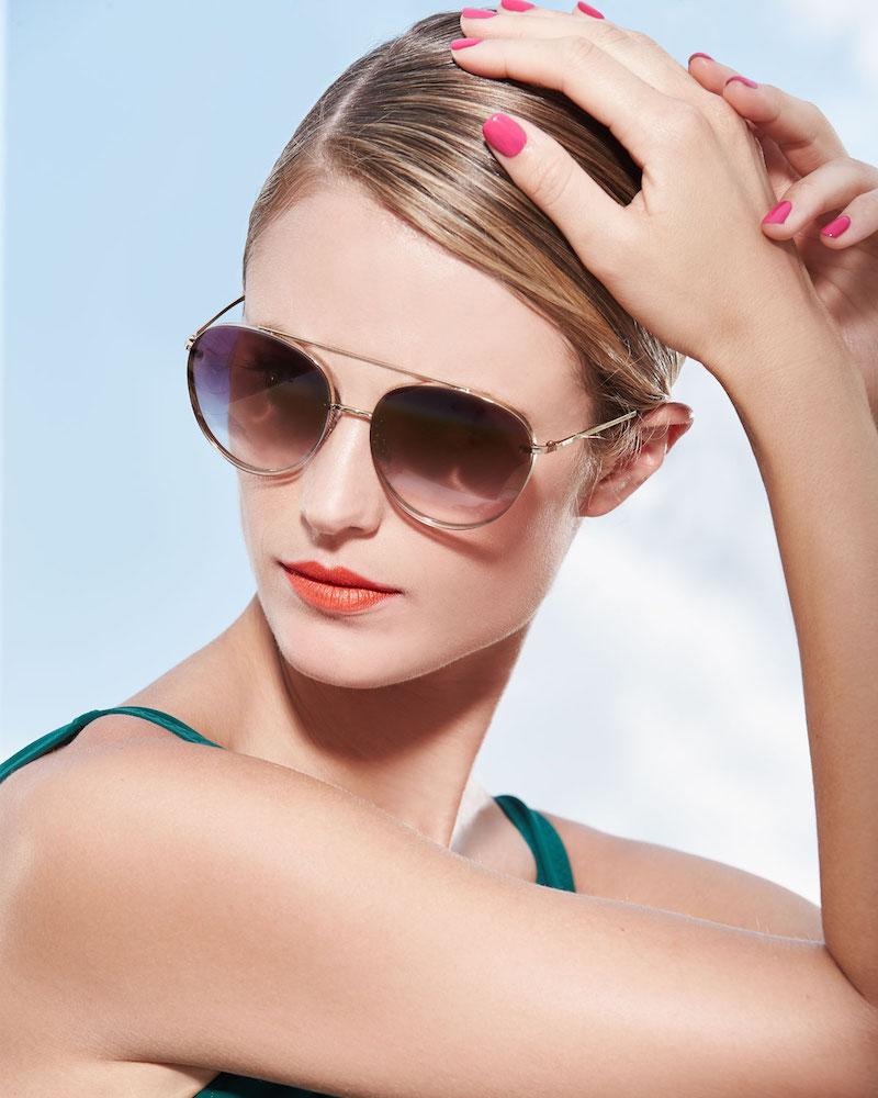 Valentino Mirrored Round Sunglasses