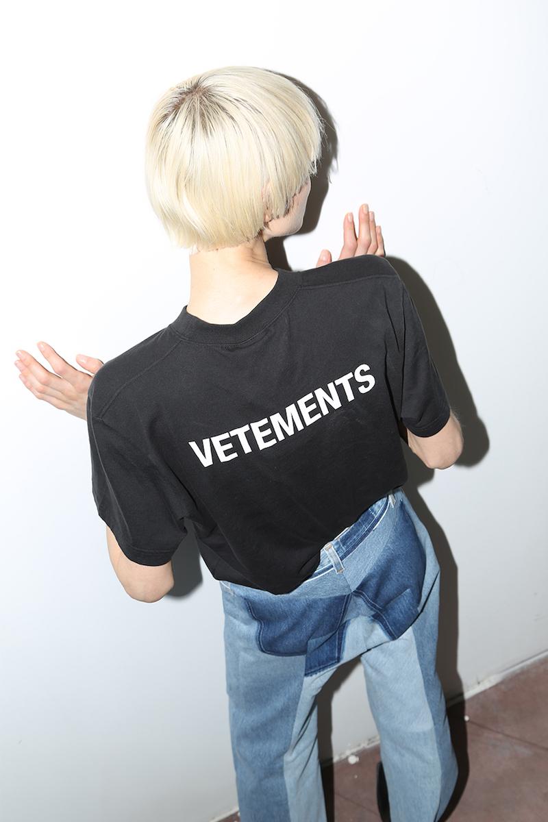 Vetements Reworked Raw Cut Cotton Denim Jeans
