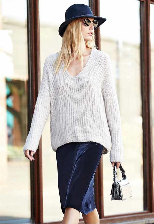 Vince Deep V-Neck Pullover Sweater