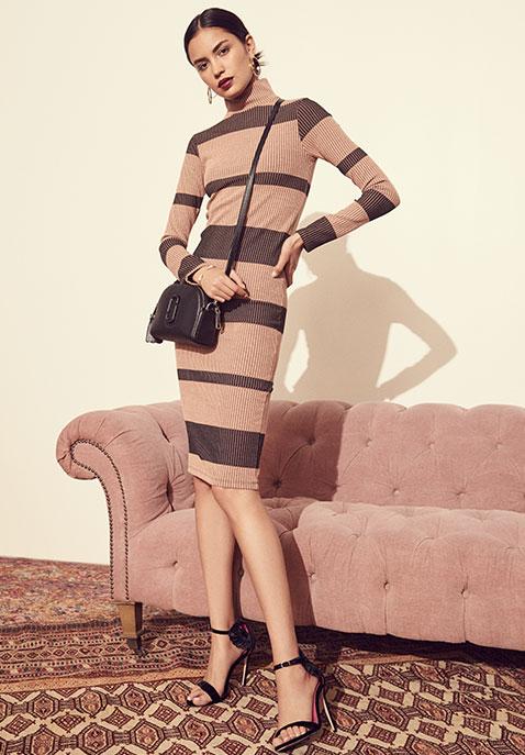 ANIMALE Rib Sweater Dress