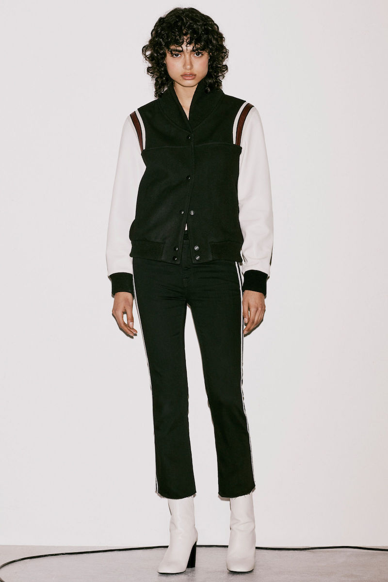 AllSaints Bordin Striped Baseball Jacket