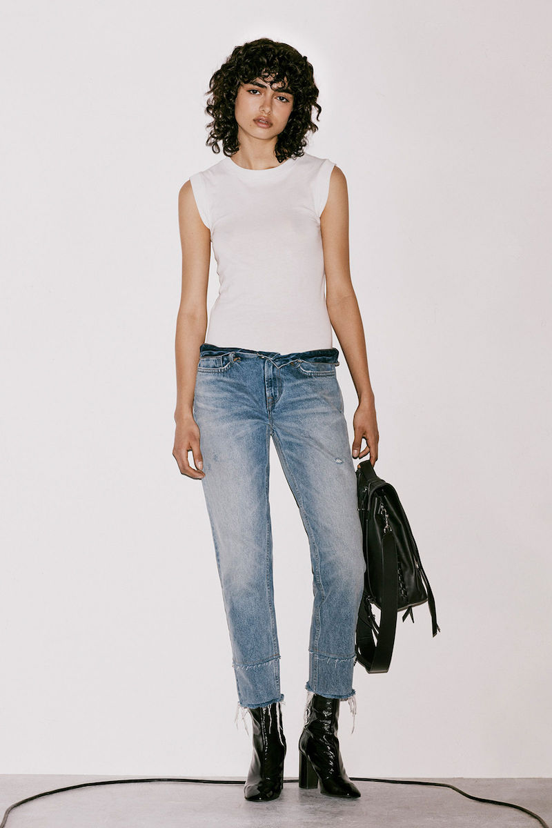 AllSaints Boys Frayed Jeans
