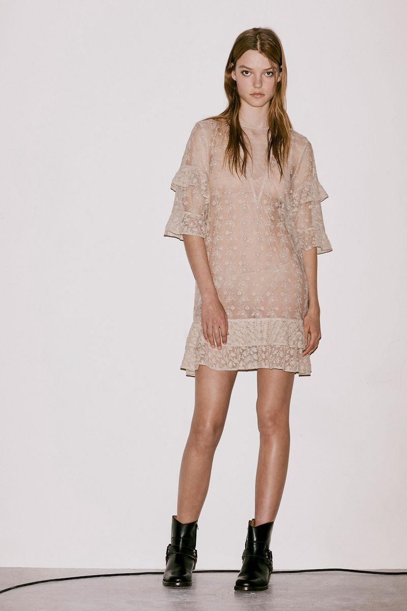 AllSaints Henrietta Ruffle Dress