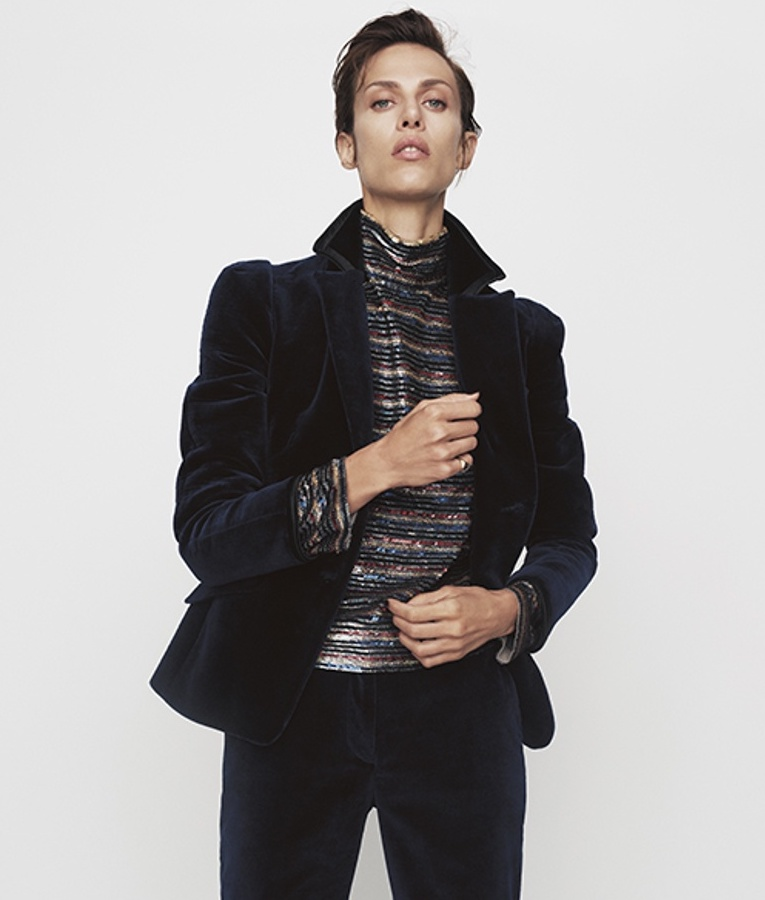 Altuzarra Paladini Double-Breasted Velvet Jacket