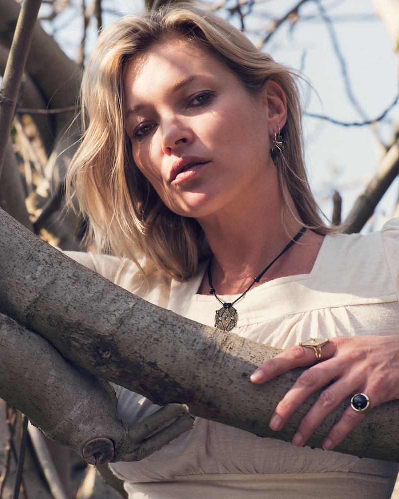 Ara Vartanian x Kate Moss Diamond, Ruby & Gold Necklace