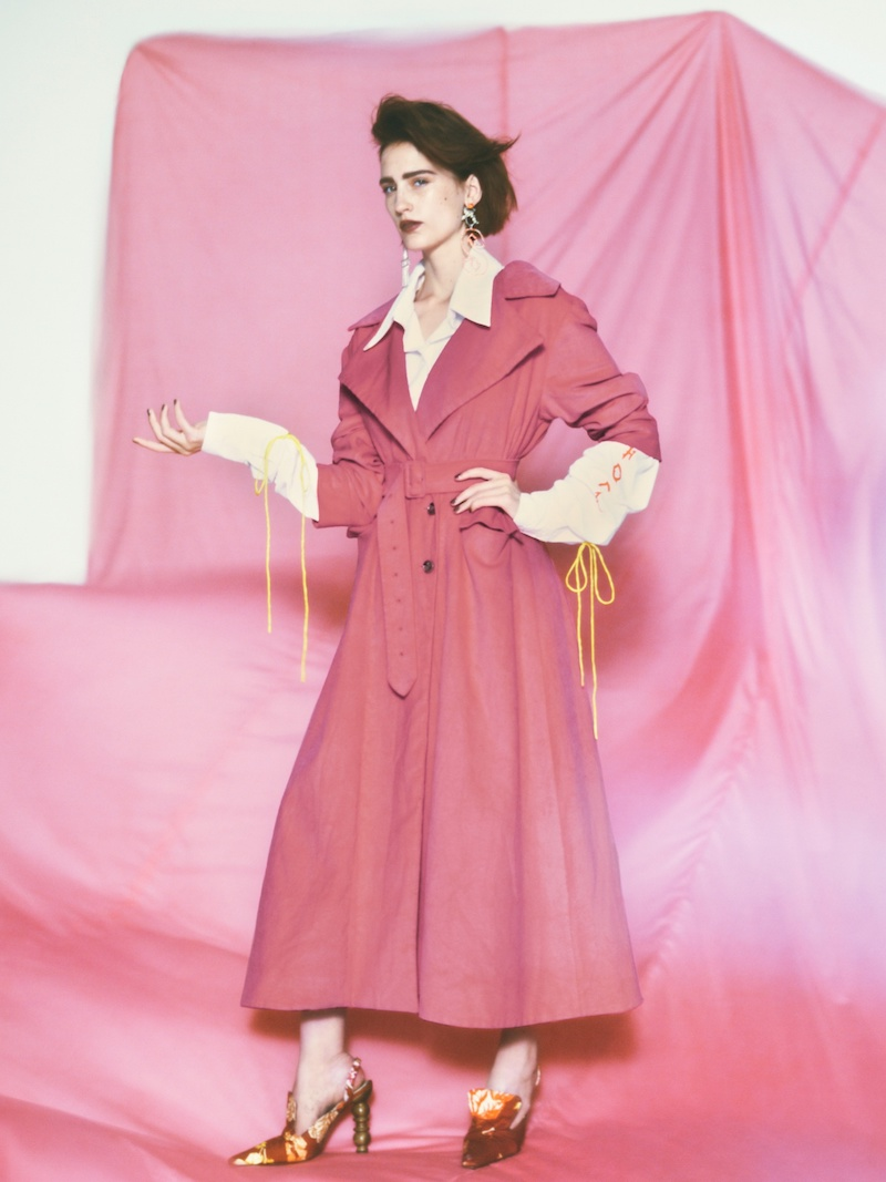 Art School Euphoria Corduroy Trench Coat