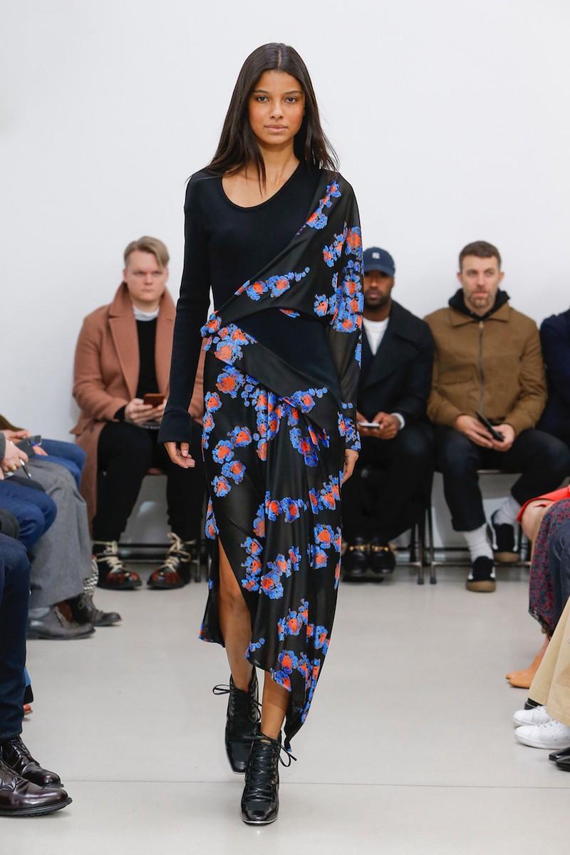 Atlein Jersey Jacquard Draped Maxi Dress