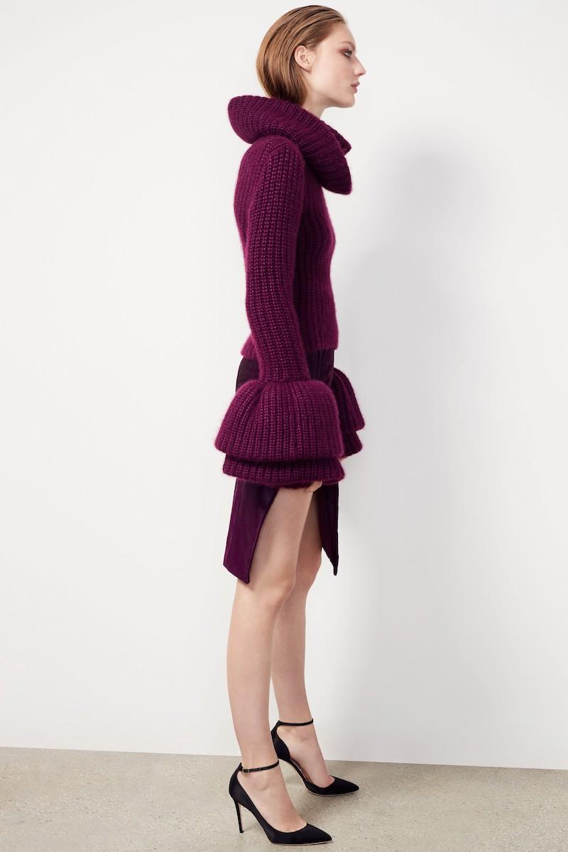 Brandon Maxwell Silk, Mohair & Cashmere Turtleneck Sweater