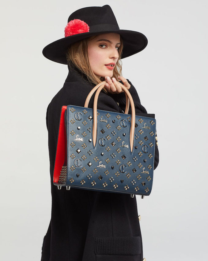 Christian Louboutin Paloma Empire Spikes Medium Mixed-Stud Tote Bag