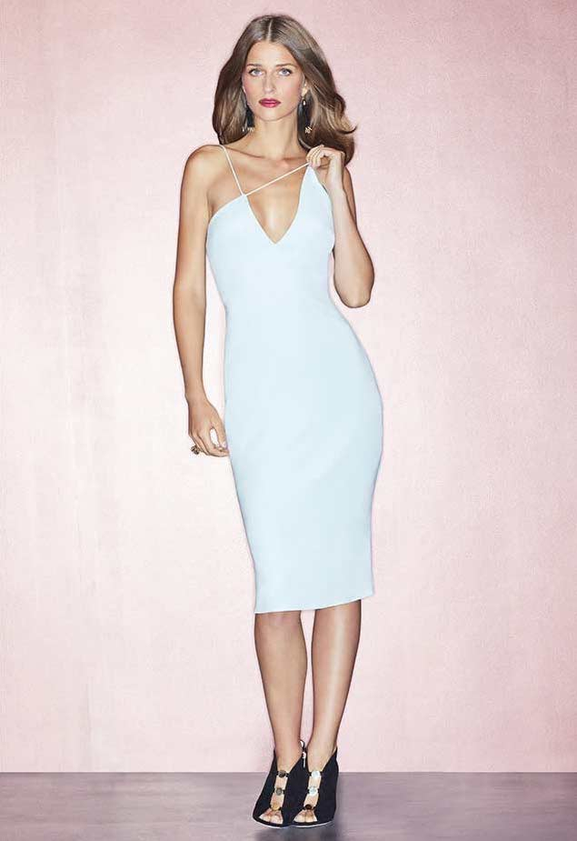 Cushnie et Ochs Karina Slip Dress with Asymmetric Straps
