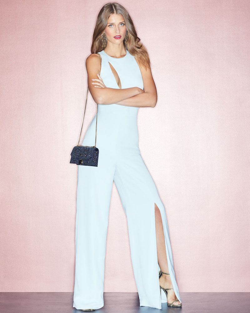 Cushnie et Ochs Valerie Sleeveless Wide-Leg Jumpsuit with Cutout Neckline