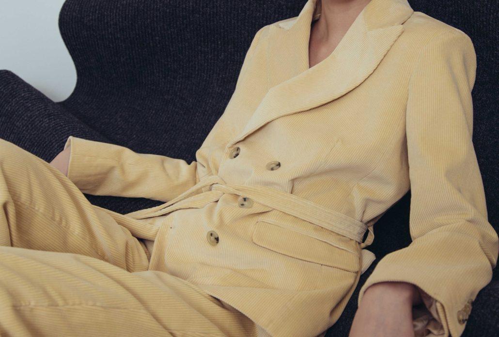 DA/DA Diane Ducasse Crossed Blazer in Wheat